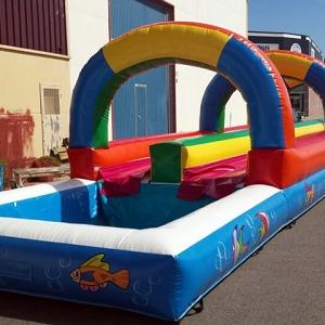 Hinchable acuático terrestre slide